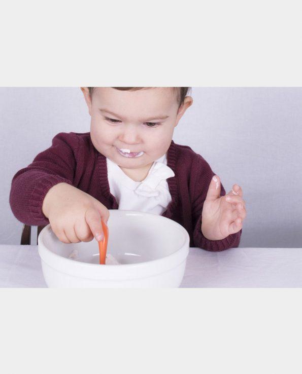 cuchara para bebés ergonómica kizingo blw