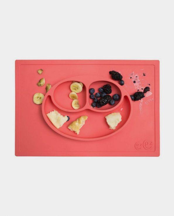 plato y bandeja para niños de silicona antideslizante blw baby led weaning