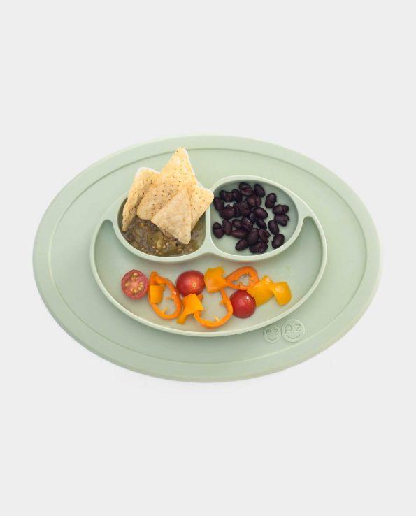 plato para niños de silicona antideslizante blw baby led weaning