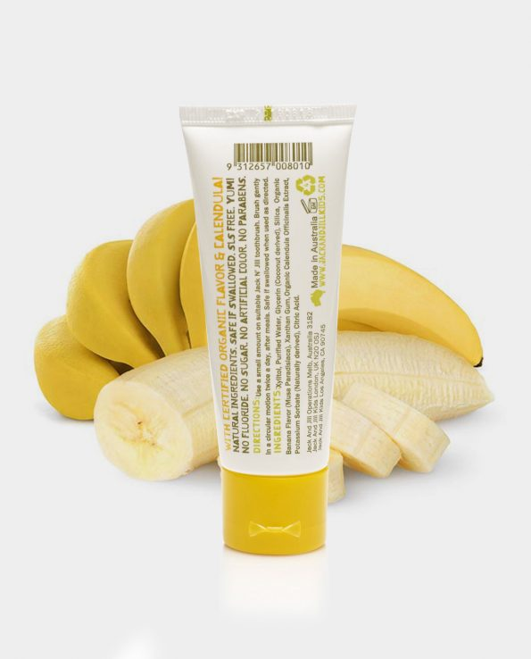 pasta de dientes para niños sabor plátano jack&jill
