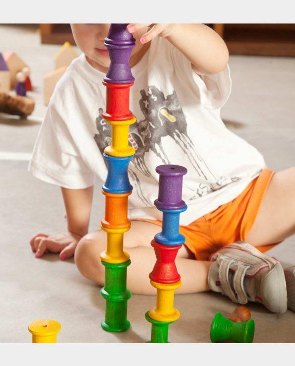 carretes de madera para niños de grapat