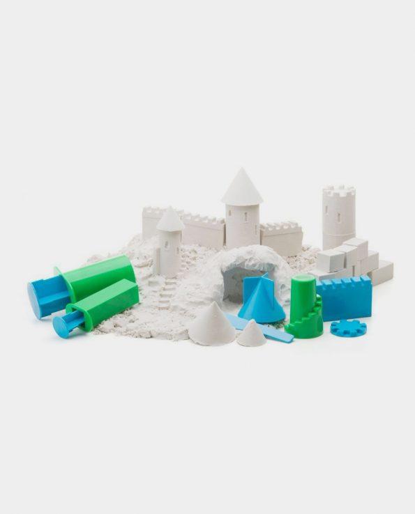 moldes formas geométricas arena kinética y plastilina mágica