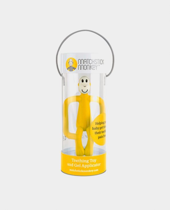 mordedor mono matchstick amarillo