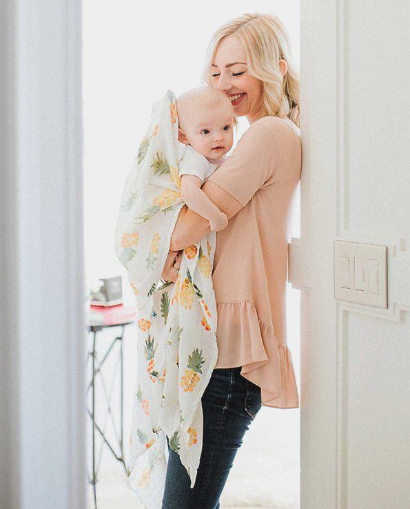 muselina para bebés piñas
