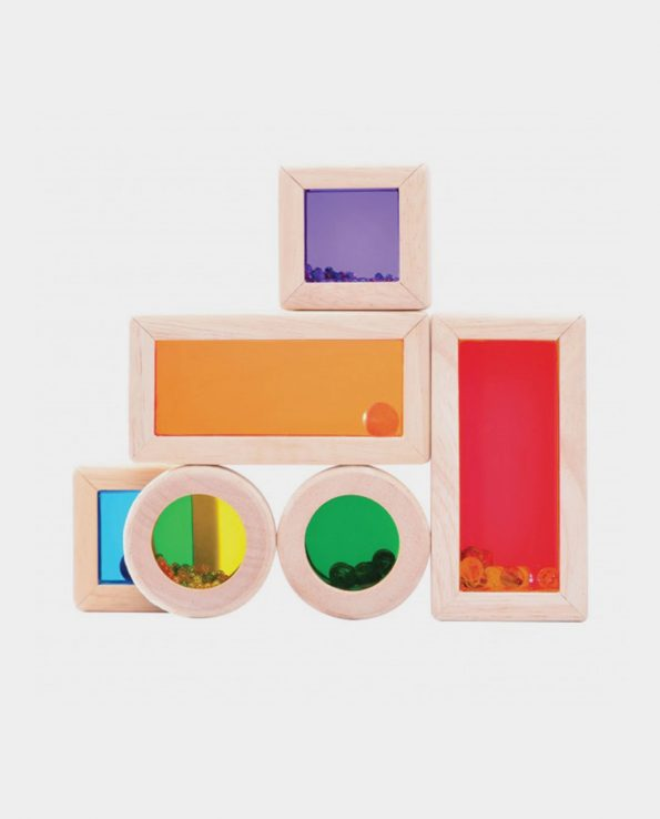 bloques arcoiris de sonido mesa de luz