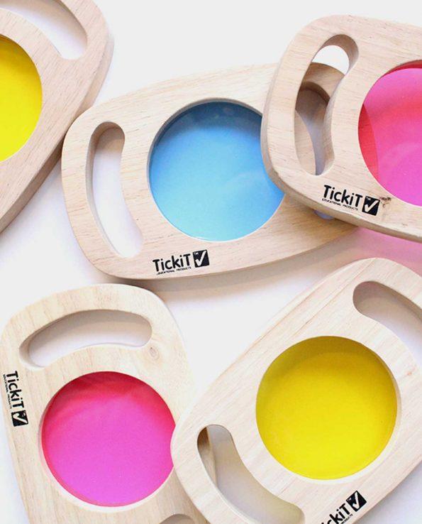 paneles de colores mesa de luz
