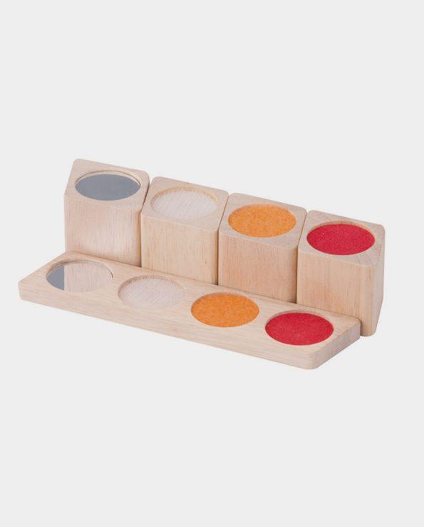 bloques sensoriales montessori mesa de luz