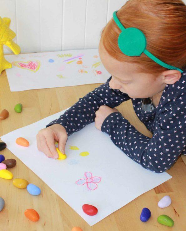 crayon rocks ceras para niños ecológicas
