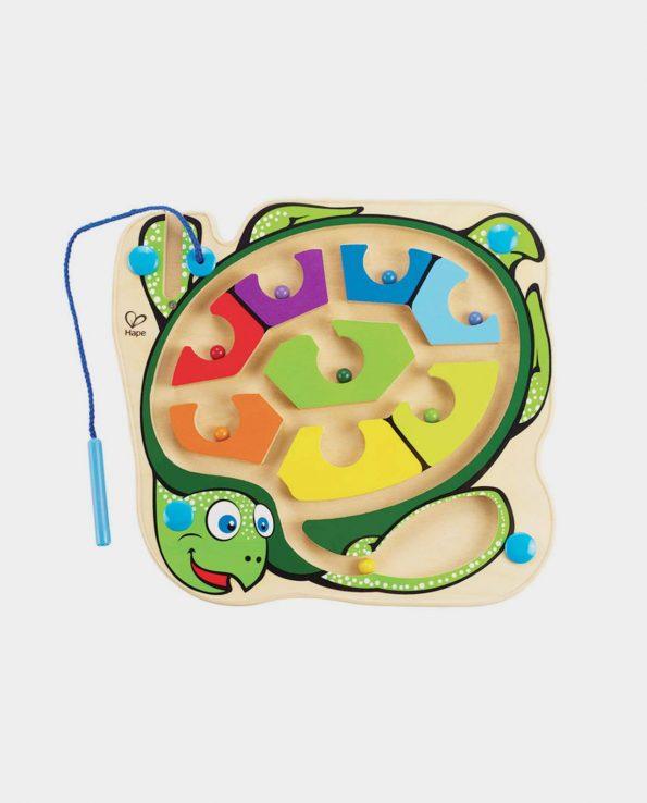 laberinto magnético para niños con forma de tortuga