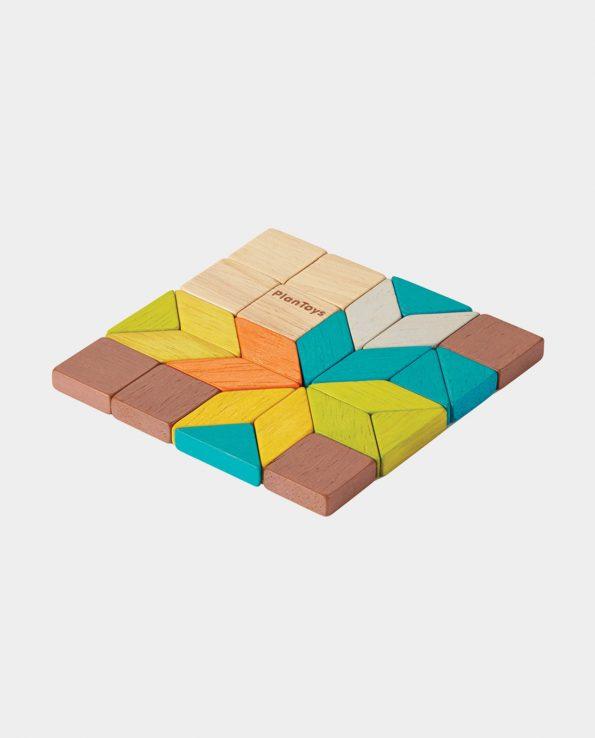 mosaico de madera para bebés