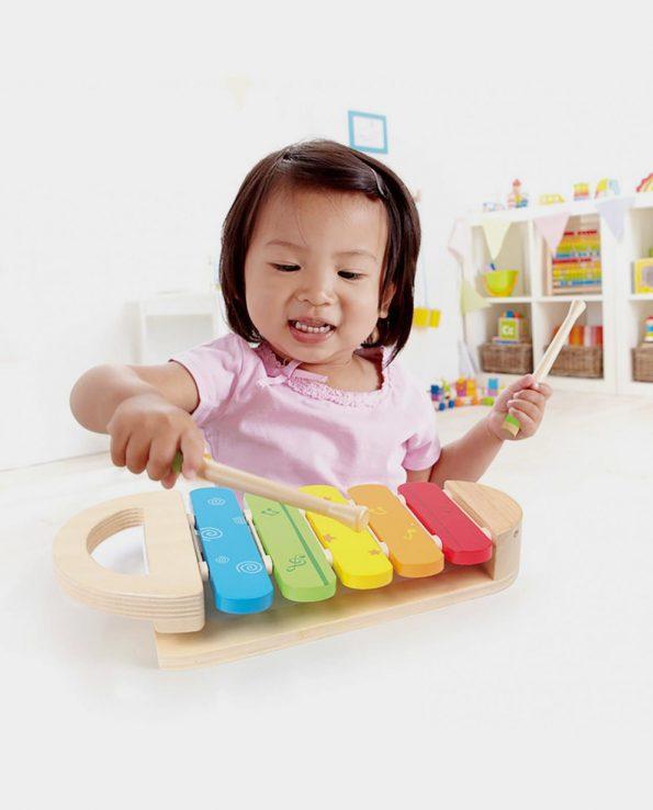 xilófono de madera para niños de hape