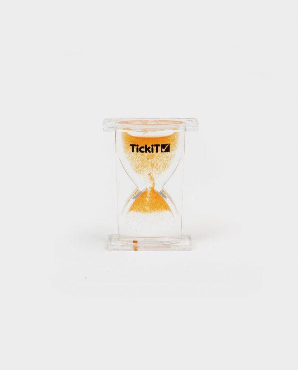 Reloj sensorial mini ascendente Tickit Reloj de arena para niños naranja
