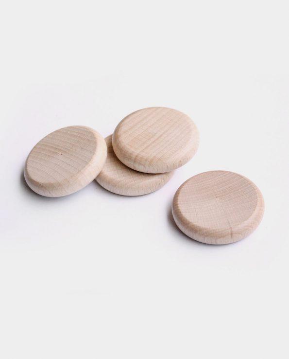 moneda de madera panera de los tesoros