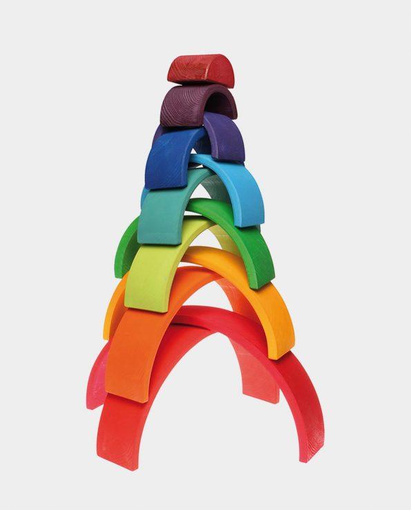 Arcoíris grande de 12 piezas de madera de la marca Grimm's