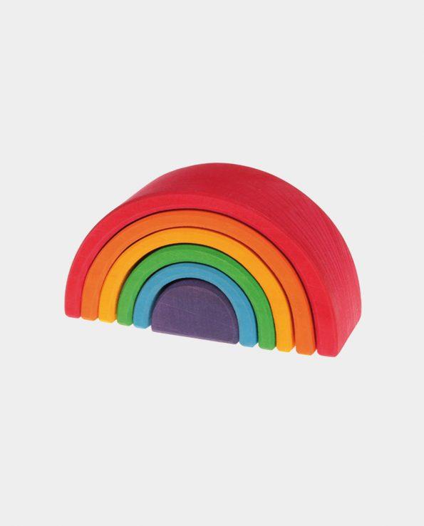 Arcoíris mediano de 6 piezas de madera de la marca Grimm's