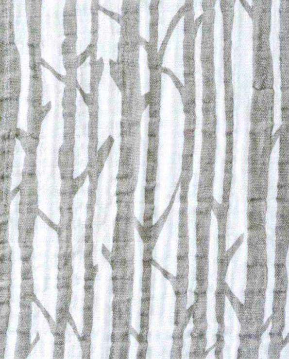 muselina de bambú estampada con troncos