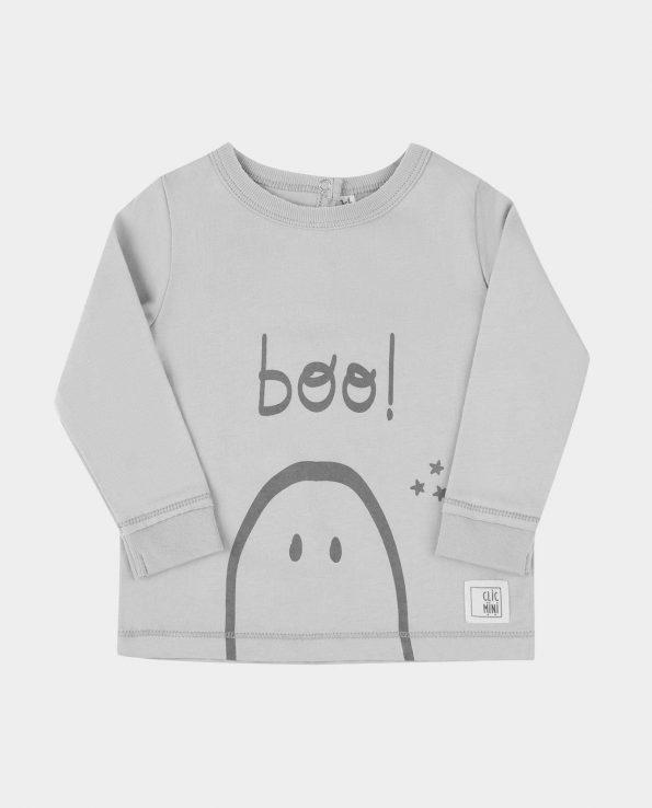 Camiseta manga larga de niño de algodón de la marca clic mini