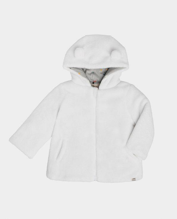 Chaqueta reversible de bebé de la marca clic mini modelo teddy blanco