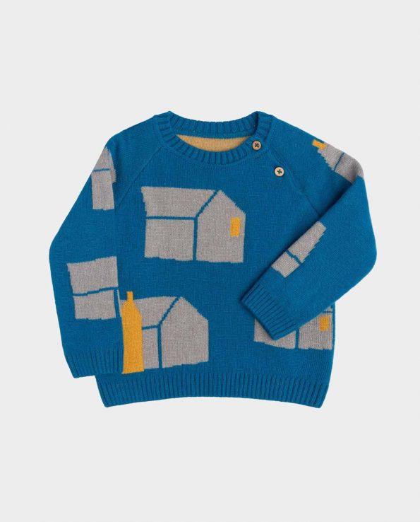 Suéter de niño de la marca clic mini modelo home petrol