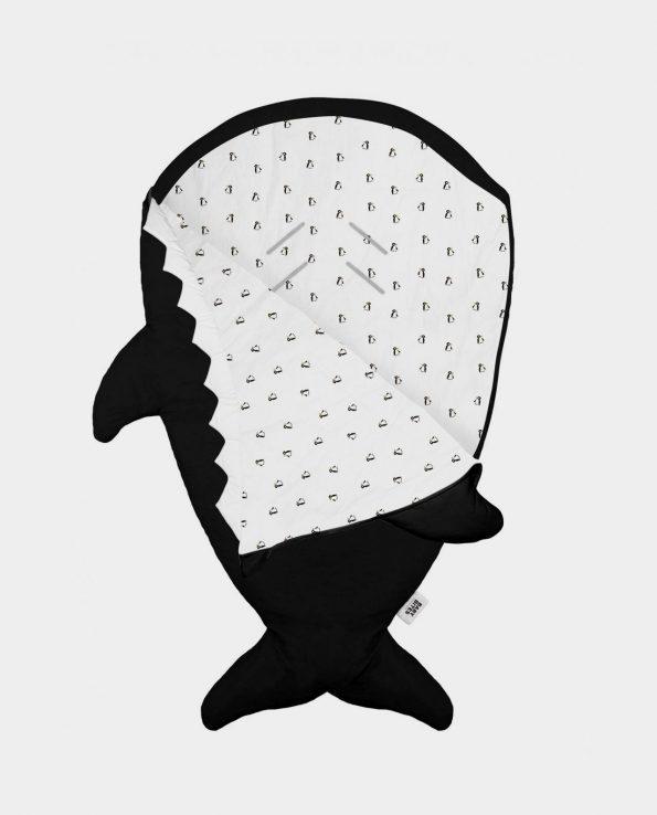 Saco para bebés con forma de tiburón de la marca Baby Bites