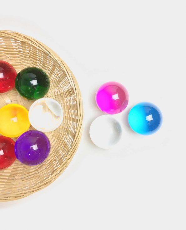Bolas de metacrilato para niños y bebés de la panera de los tesoros