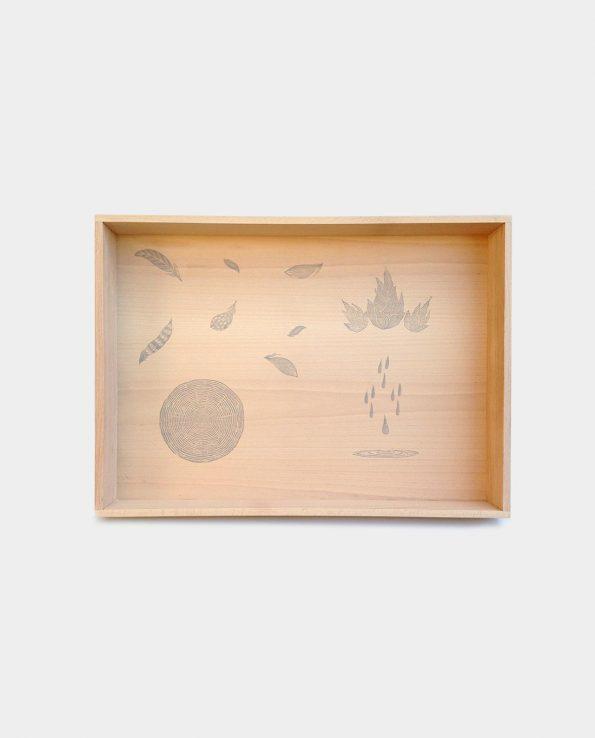 Caja de madera de la marca Grapat