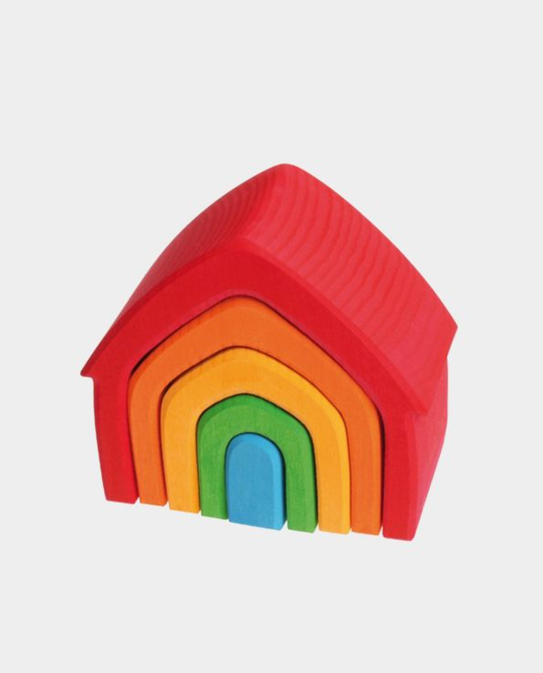 Casa arcoíris de madera de la marca Grimm's