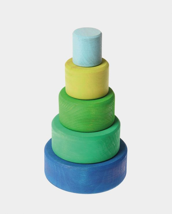 cuencos encajables de colores de la marca grimms