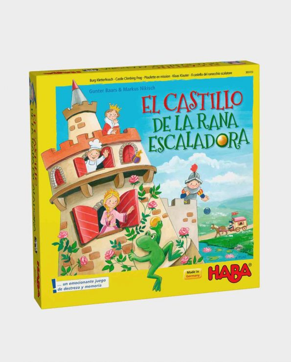 Juego de mesa para niños El castillo de la rana escaladora de Haba