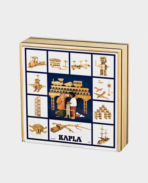 Juego de construccion con piezas de madera de la marca Kapla