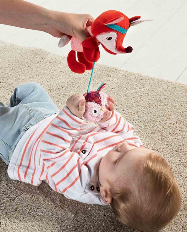 Peluche y marioneta sensorial Alice de Lilliputiens