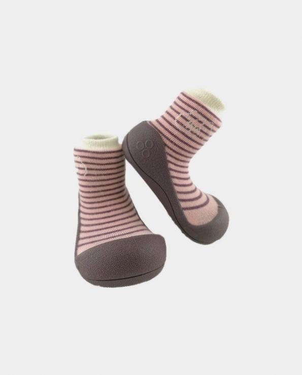zapatos para bebe cómodo Attipas forest pink