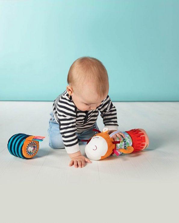 Juguete para bebés gusano peluche jack cadena de sonidos
