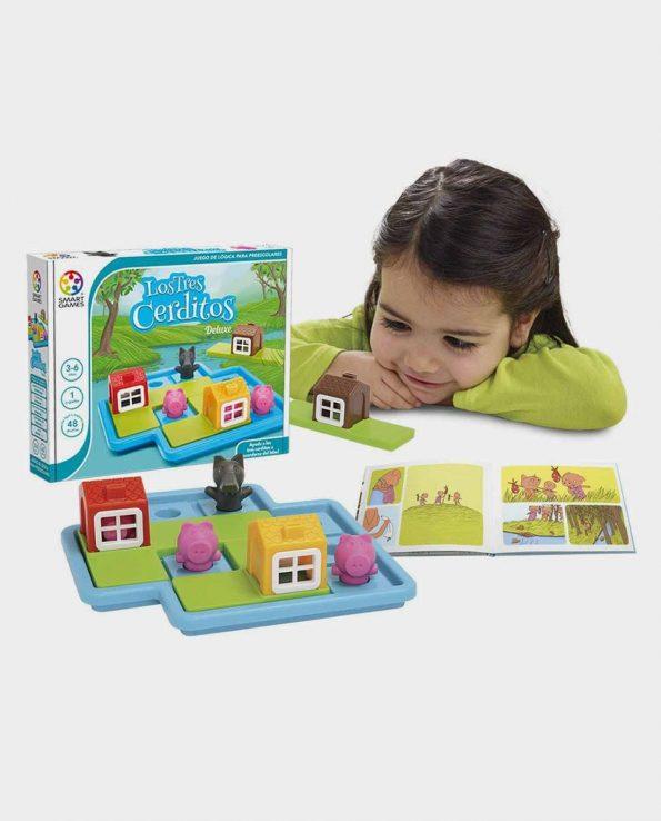 Juego de habilidad para niños Los tres cerditos de la marca Smart Games