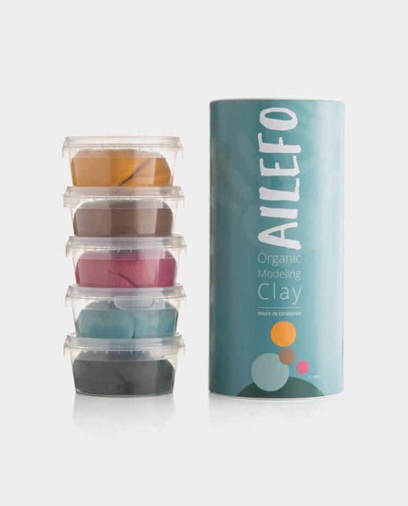 Plastilina 100% orgánica para niños de la marca Ailefo.
