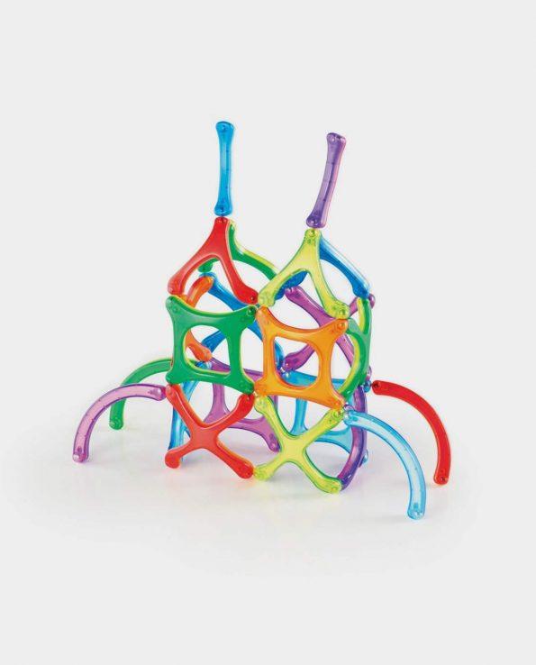 Juego de habilidad Power Clix Magnético con formas orgánicas de 26 piezas para niños