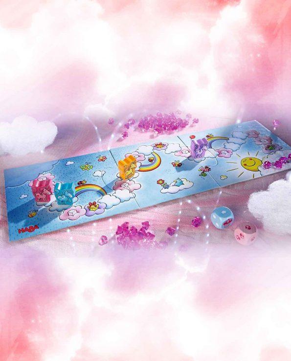 Juego de mesa de niños Unicornio Destello: El tesoro de las nubes de Haba