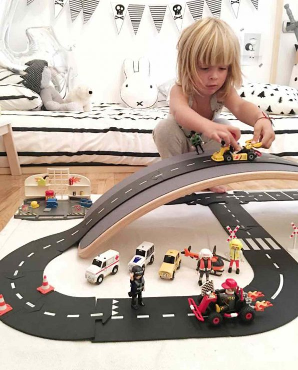 Carreteras Waytoplay Set de extensión cruces Crossing
