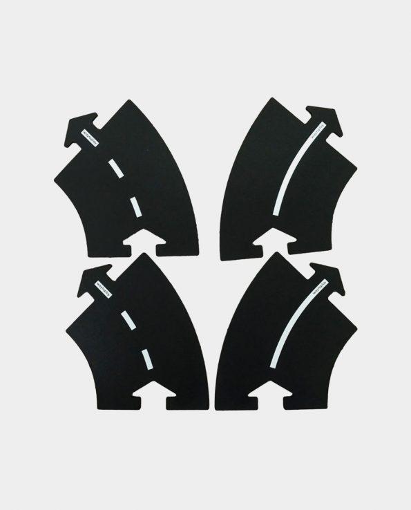 Carreteras Waytoplay Set de extensión curvas