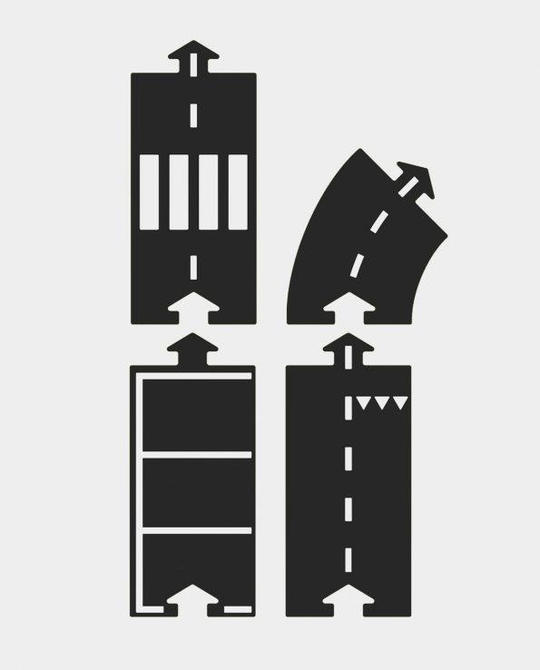 Carreteras Waytoplay Set de extensión Halfway