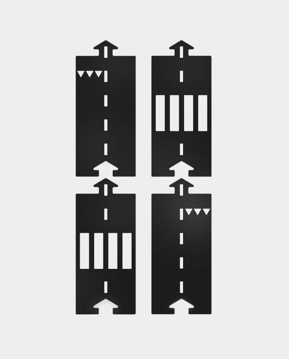 Carreteras Waytoplay Set de extensión Rectas