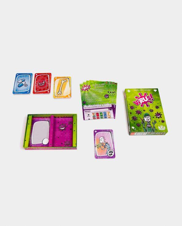 Juego de mesa para niños y niñas de cartas Virus