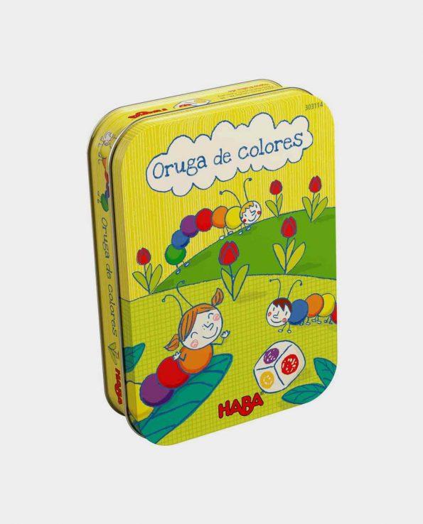 Juego para niños y niñas Oruga de colores de haba