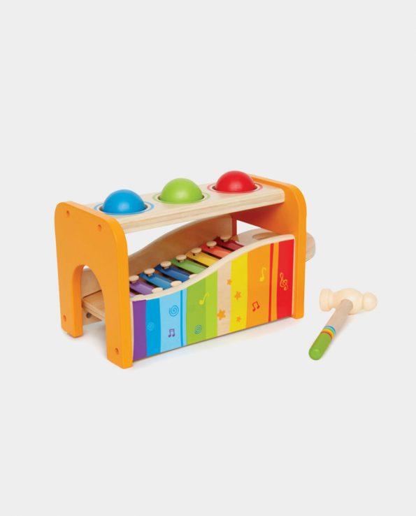 Juego para niños y bebés musical picafuerte + xilófono de Hape