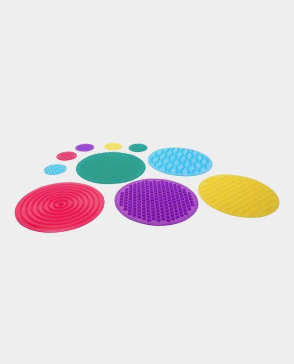 Círculos sensoriales de silicona de la marca Tickit