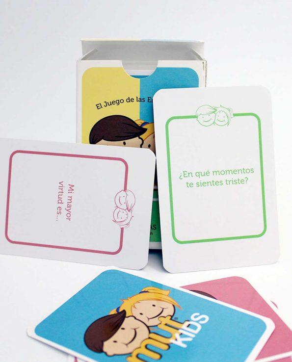 Juego de cartas de las emociones para niños