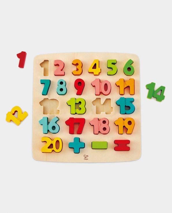 Puzzle de números de madera encajable de hape