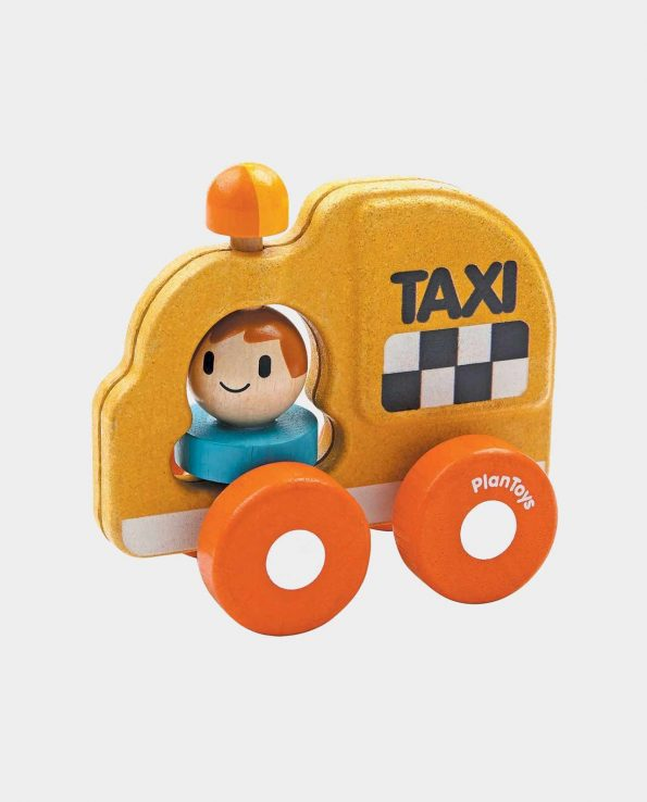 Taxi natural de juguete de plantoys