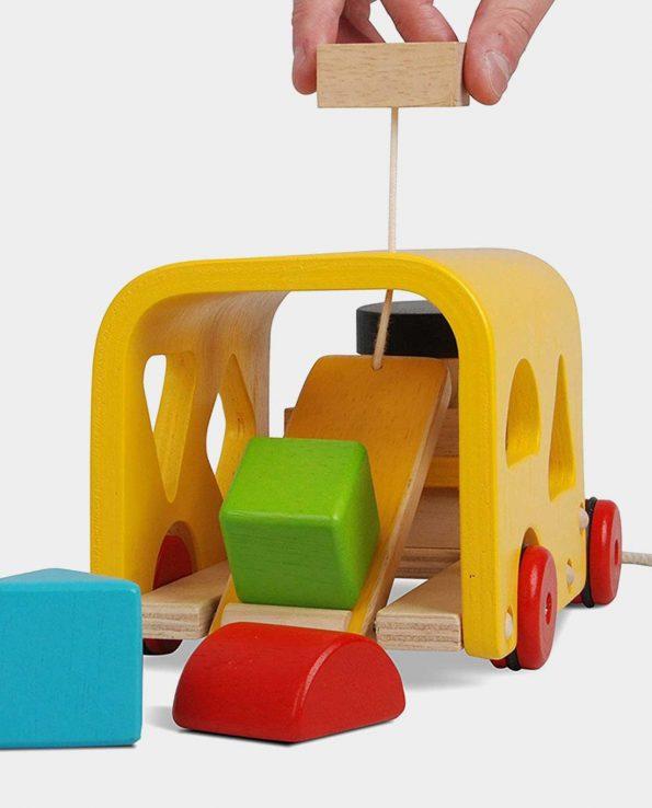 Autobús encajable juguete para bebés de Plantoys