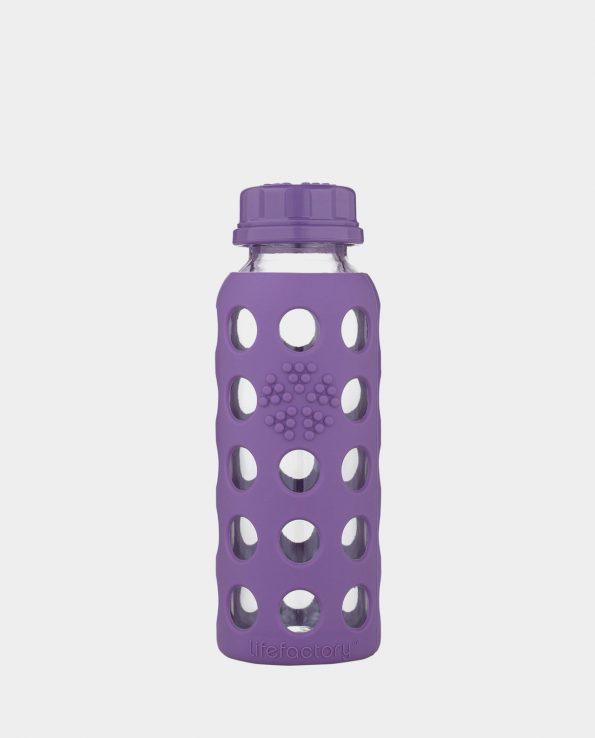 Botella Lifefactory 250ml de cristal resistente a golpes y silicona natural